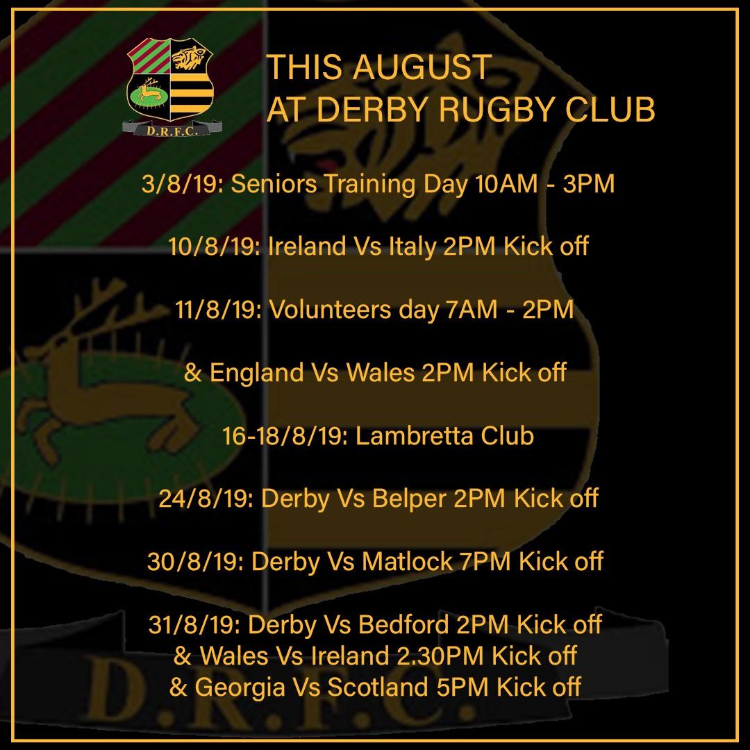 Derby RFC August 2019